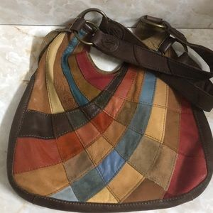 Lucky Brand patchwork leather shoulder bag
